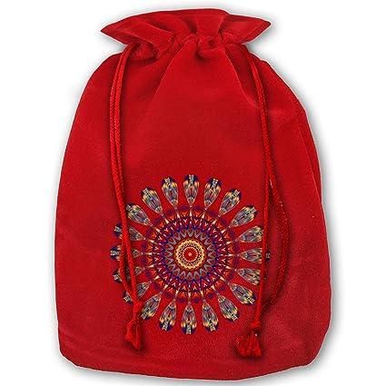 Amazon.com: Bolsas de Navidad rojas 13.5 in x 17.4 in ...