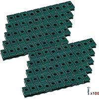 100 soportes de alambre tensor de plástico