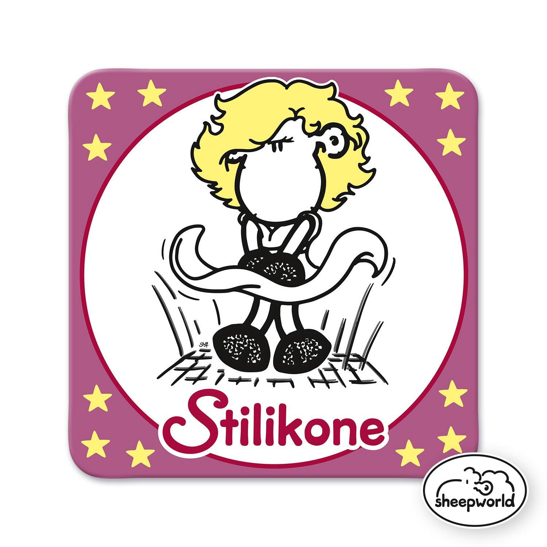 Stilikone 81052 Kork Gruss /& Co 9,5cm x 9,5cm 36 Untersetzer Nr Sheepworld