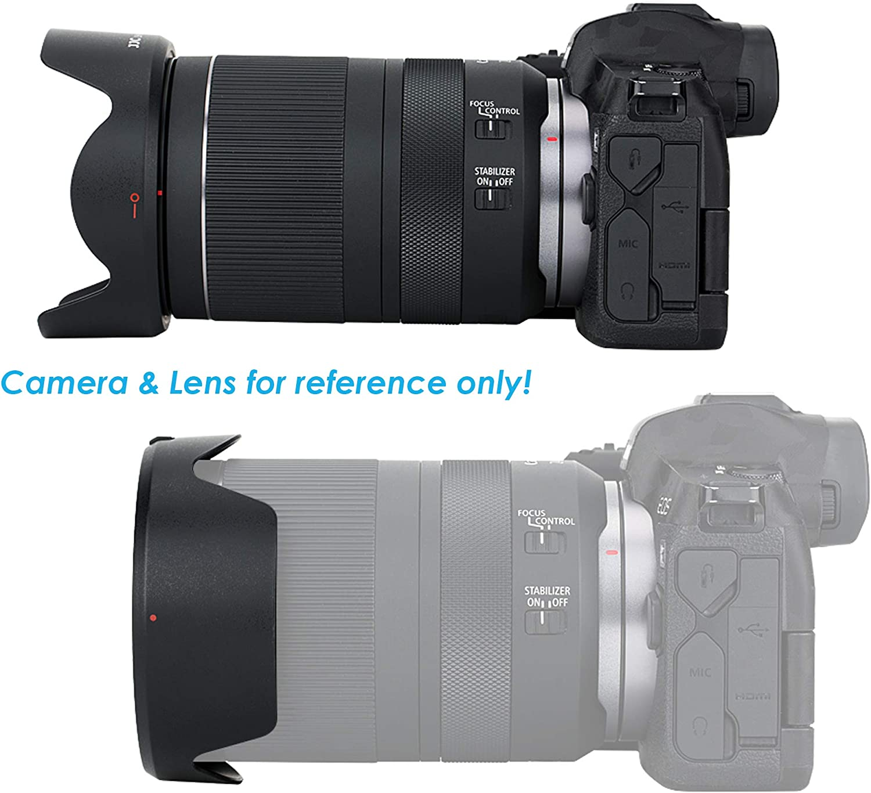 Non-Glare Matte Finish Reversible Replacement of Canon EW-78F EW78F JJC LH-78F Dedicated Petal Tulip Bayonet Lens Hood for Canon Canon RF 24-240mm f//4-6.3 is USM Lense Canon RF 24-240 Hood Shade