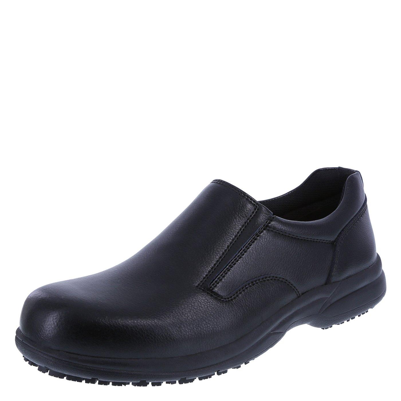 safeTstep Slip Resistant Men's Black Men's Al Slip-On 7.5 Wide