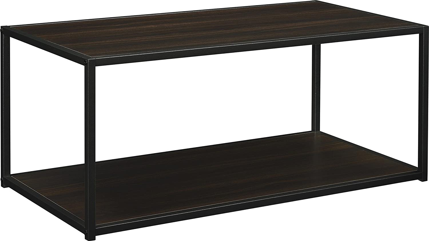 amazoncom altra canton coffee table with metal frame espresso kitchen dining - Metal Frame Coffee Table