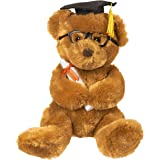 Graduation Plush Bear - Stuffed Animal Teddy Bear with Glasses, Grad Cap, Diploma and Props - Great College Graduation Gift, 10.5 Inches, Brown