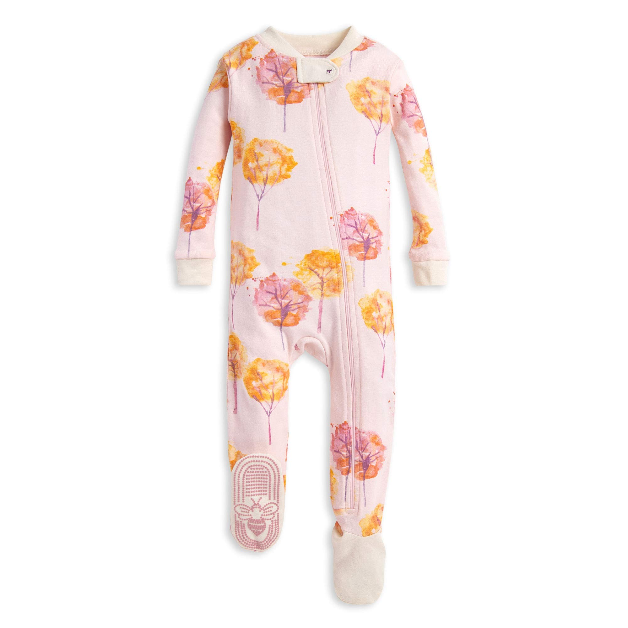 Burt's Bees Baby Baby Girls Pajamas, Zip Front Non-Slip Footed Sleeper PJs, 100% Organic Cotton, Fall Foliage, 18 Months by Burt's Bees Baby