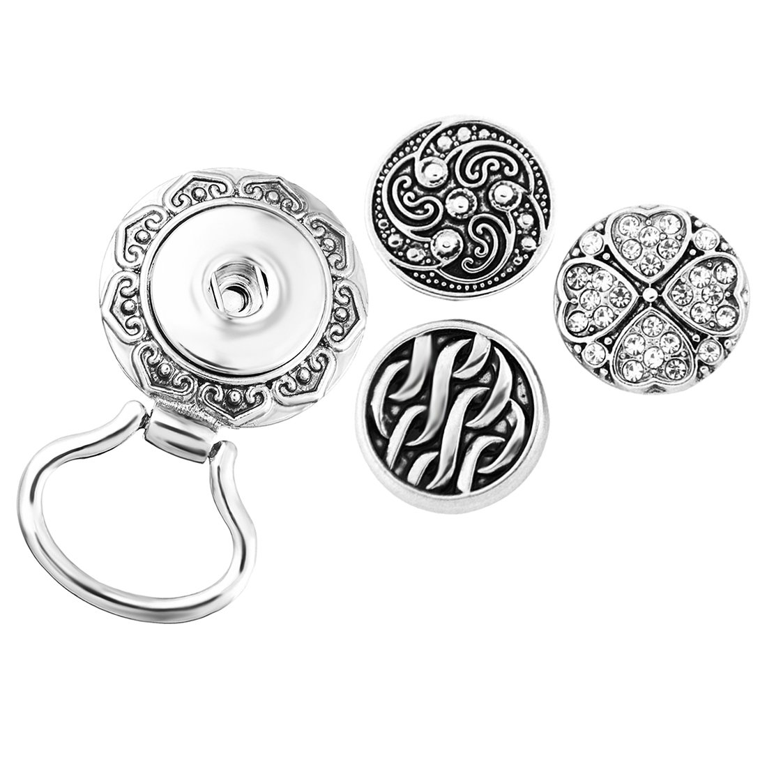 MJartoria Interchangeable Snap Buttons Centerpiece Eye Glass Holding Magnetic Brooch