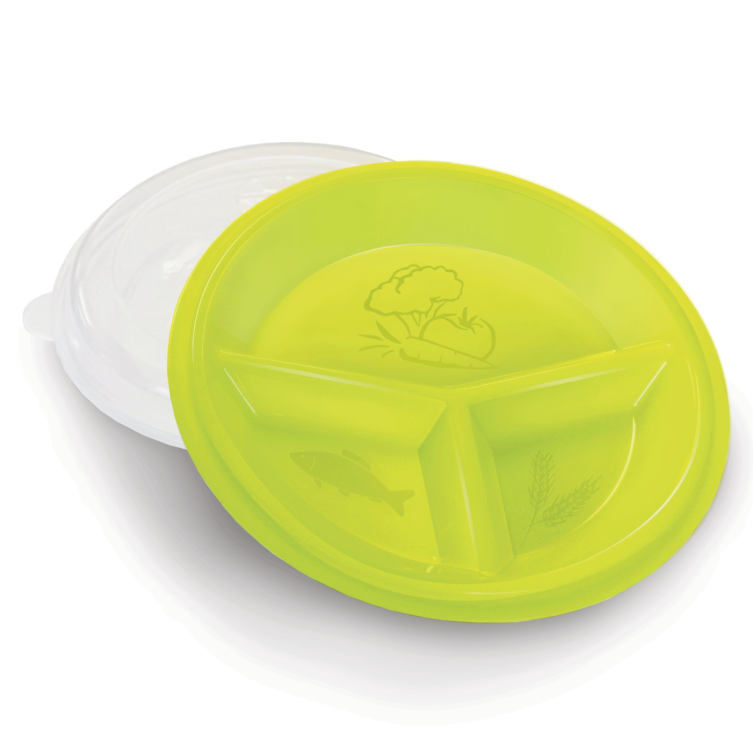 Rehabilitation Advantage Rehabilitation Advantage 3 Compartment Portion Plate - Healthy Eating & Portion Control, Set of 2, 0.55 Pound