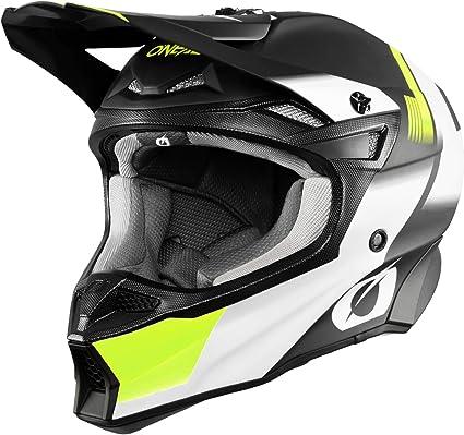 O Neal Motorrad Helm Motocross Enduro 2 Außenschalen 2 Eps Für Erhöhte Sicherheit Leichte Fiberglas Außenschale 10srs Hyperlite Helmet Blur Erwachsene Schwarz Neon Gelb Größe Xs Auto
