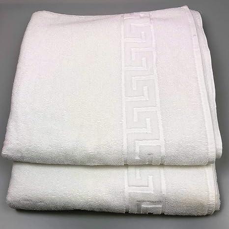 TEXSAMA TOALLA HOTELES blanco tocador (30x50 cm) GRECA-450