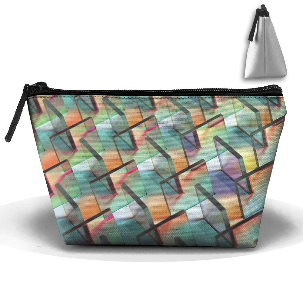 Homlife Portable Travel Artistic Glass Cool Pattern Storage Pouch Cosmetic Toiletry Bags Organizer Travel Accessories by Homlife