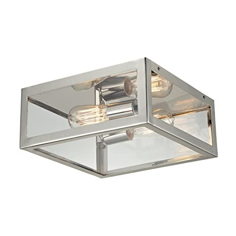 Amazon.com: Iluminación Elk 31211/2 2 luz Semi-Flush plafón ...