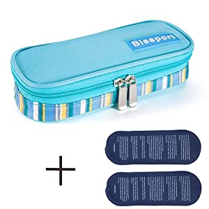 Bissport Insulin Cooler Case Portable Medical Travel Cooler Bag