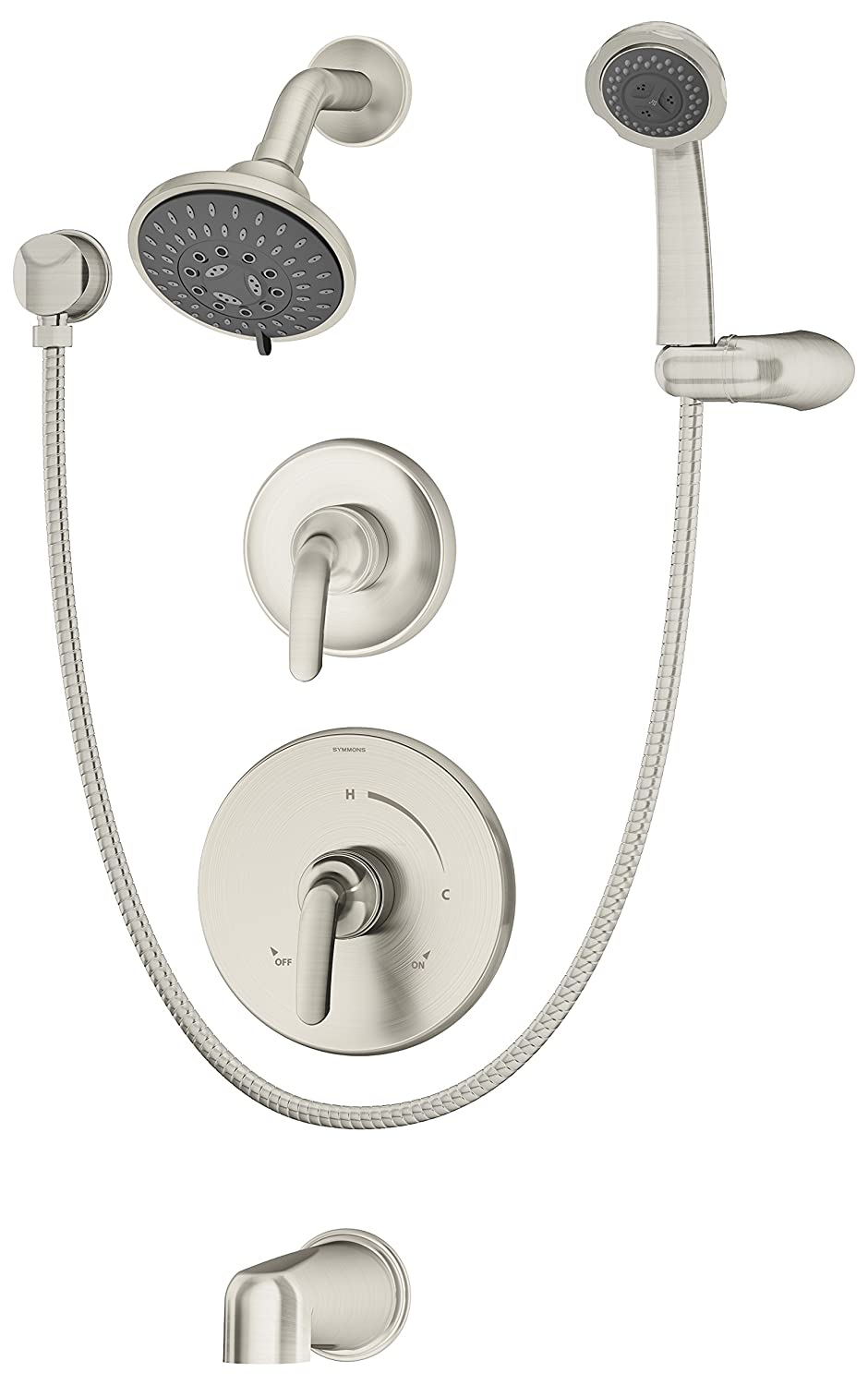 symmons 5506stntrm elm tub shower and handshower trim satin nickel amazoncom