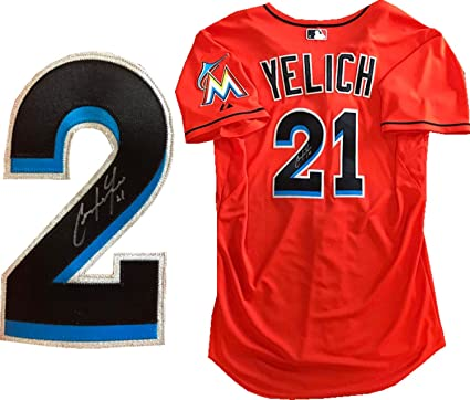 Christian Yelich Autographed Game Used Miami Marlins Jersey (MLB) at ... e4b88bda2