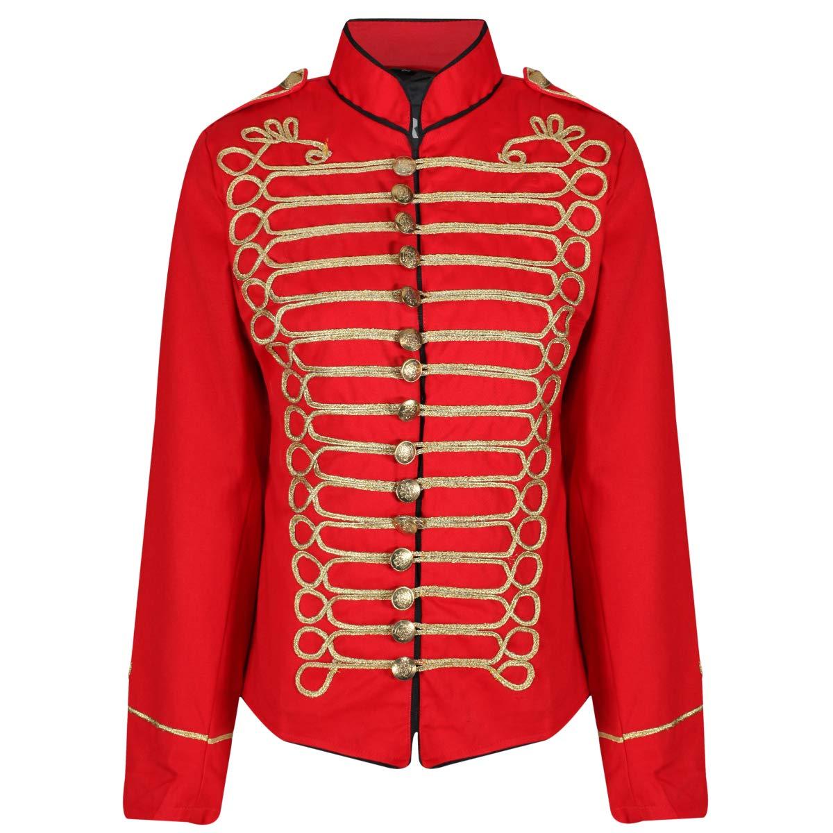 Ro Rox Ladies Emo Punk Goth Napoleon Military Drummer Parade Jacket