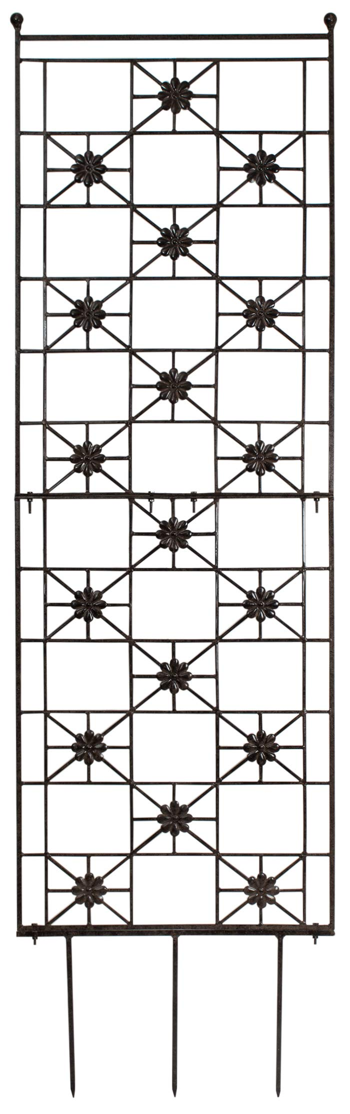 H Potter 5.5 Foot Tall Garden Flower Trellis Wrought Iron Heavy Scroll Metal Decoration Lawn, Patio & Wall Decor Screen for Rose, Clematis, Ivy Patio Deck Wall Art by H Potter (Image #1)