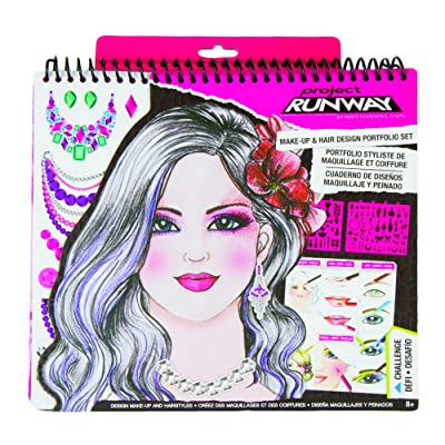 Fashion Angels Project Runway Make-Up Design Sketch Portfolio - Click Image to Close