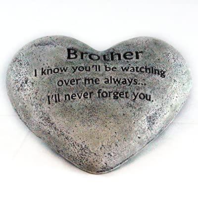 Gerson Heart Shaped Memory Stone for Brother : Garden & Outdoor