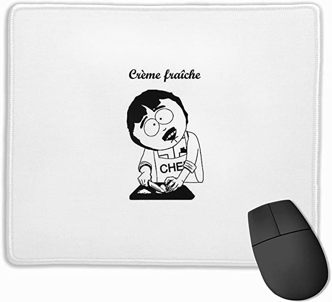 G-udetama Mouse Pad with Stitched Edge Non-Slip Rubber Base Mousepad for Laptop 7 X 8.6 in