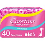 CAREFREE, Panty Liners, FlexiComfort, Fresh, Pack of 40