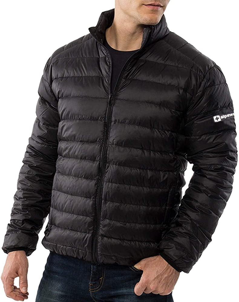 smille Comfortable Mens Winter Puffer Coat Full Zip Warm Lightweight Down Jacket Outwear