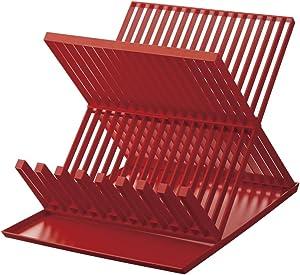 YAMAZAKI home Aqua Dish Rack Red