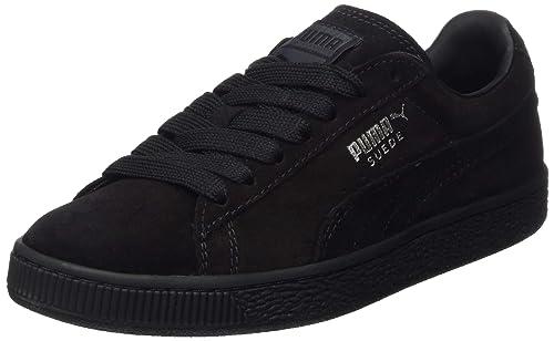 watch e136e 15763 Puma Suede Classic+, Unisex Adults  Low-Top Sneakers, Black, 3.5 UK