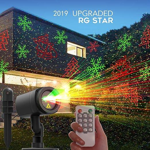 Amazon.com: CACAGOO luces de proyector de Navidad, 12 ...