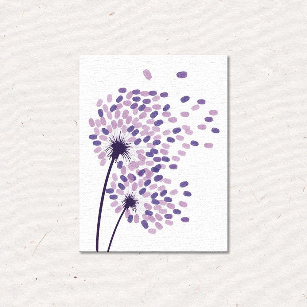 gnrjgs festa di matrimonio impronte albero Dandelion impronte digitali impronta digitale sign-in Book