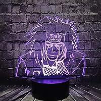 Tatapai 3D Illusion Lamp Jiraiya Cartoon Led Night Lamp for Bedroom Japan Manga Comic Range Sennin Naruto Decoration…