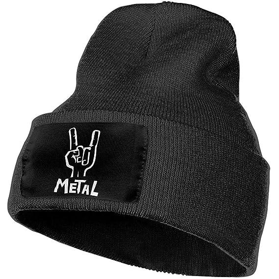 Heavy Metal Hand Sign Unisex Beanie Hat Sombreros cálidos Skull ...