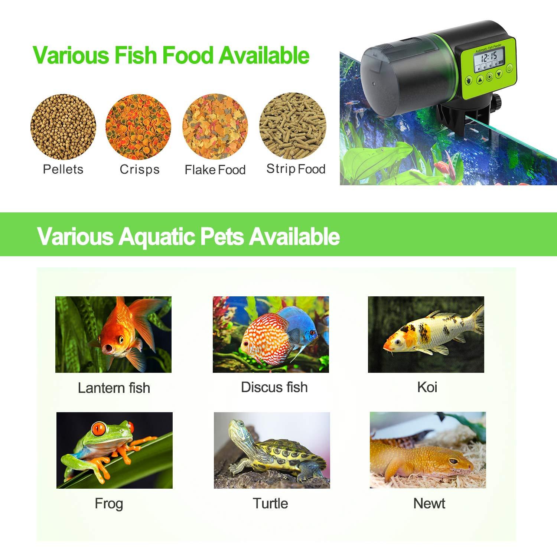 Torlam Auto Fish Feeder, Moisture-Proof Electric Auto Fish Feeder,Aquarium Tank Timer Feeder Vacation &Weekend 2 Fish Food Dispenser by Torlam (Image #7)