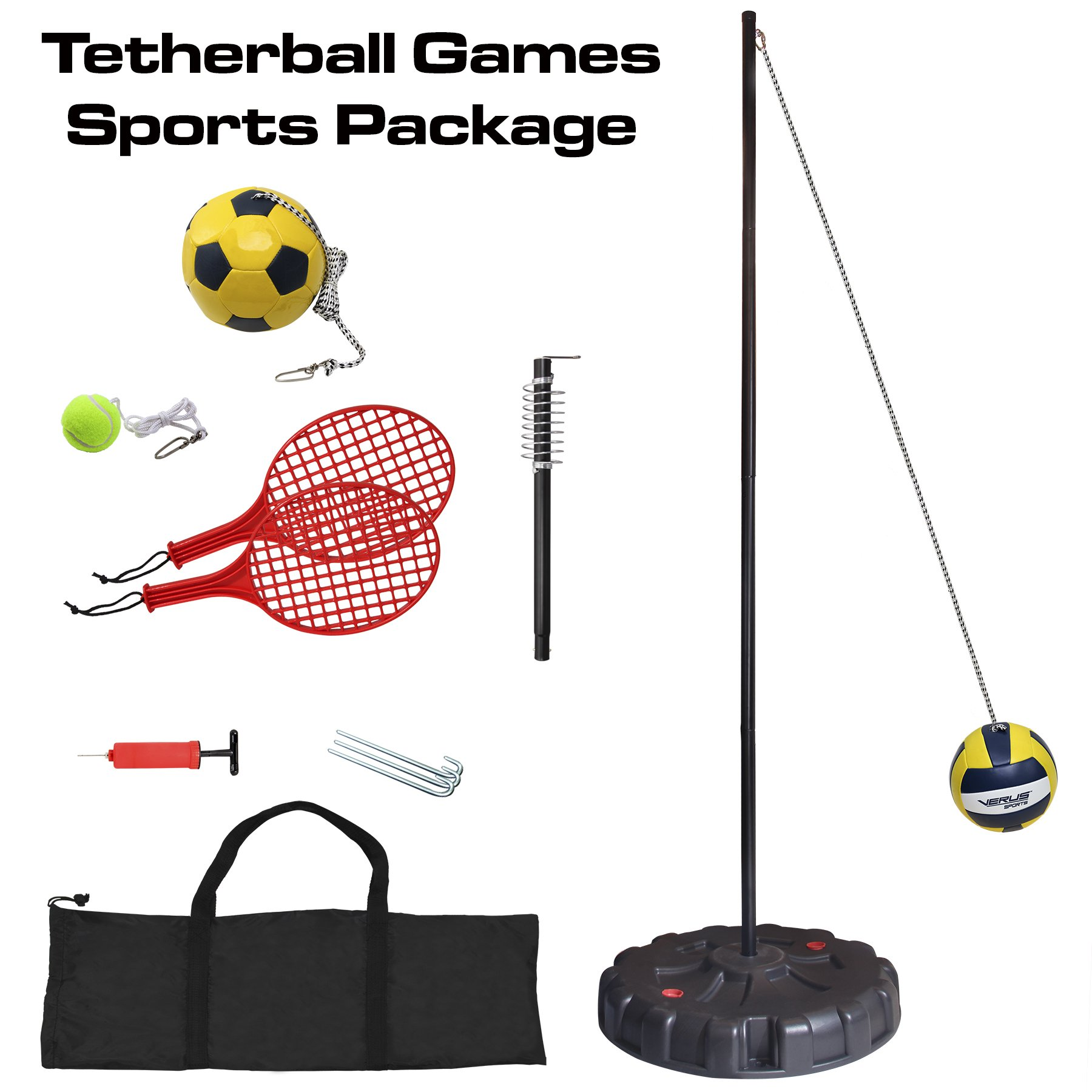 Verus Sports Portable 3-in-1 Tetherball Set