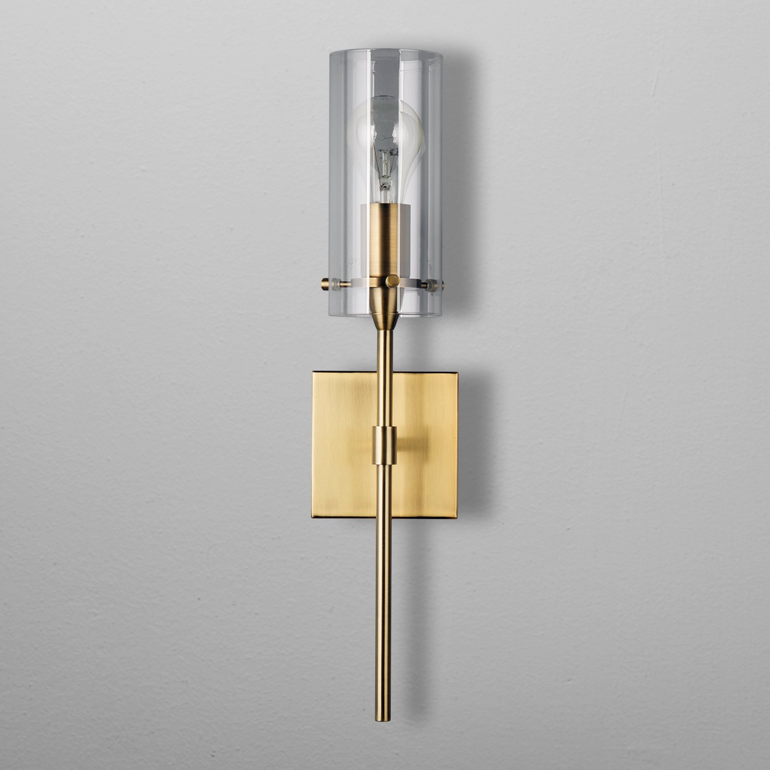 nickel como light single vanity sconce polished