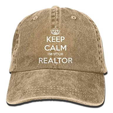 Lozeow Keep Calm I m Your Realtor Polo Style Classic Baseball Dad ... dc050a15d3dd