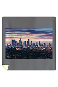 Lantern Press Los Angeles, California - Skyline at Night - Photography A-92156 (88x88 Queen Microfiber Duvet Cover)