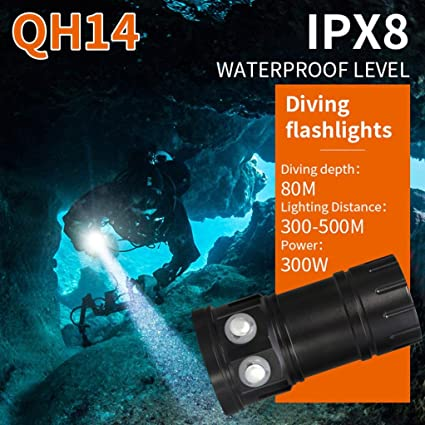 Fotografie Video 14X L2 LED 28800LM Weiß Rot Blau  Licht Tauche Tauchlampe IPX8