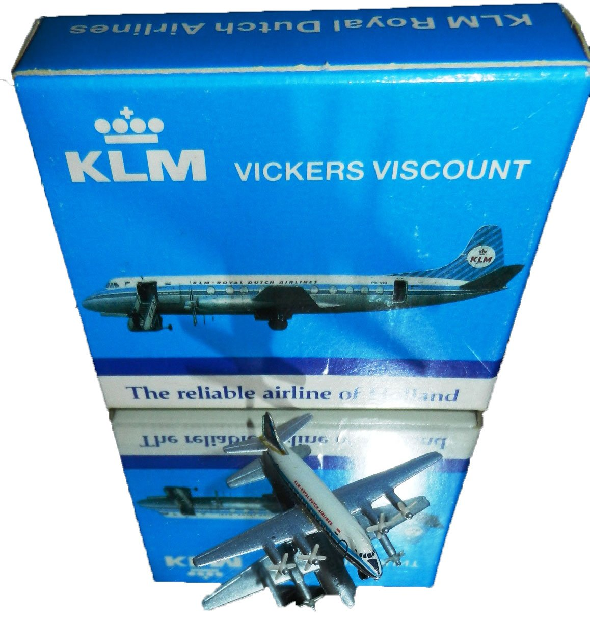 Schabak 1:600 Scale Diecast 941//5 KLM Royal Dutch Airlines Vickers Viscount Display Model