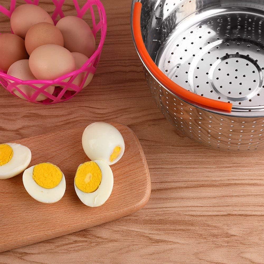 Eiern 6 Quarts Obst DIYARTS 304 Edelstahl-Dampfkorb mit Silikongriff f/ür 3//6//8 Qt Instant-Topf zum D/ämpfen von Gem/üse