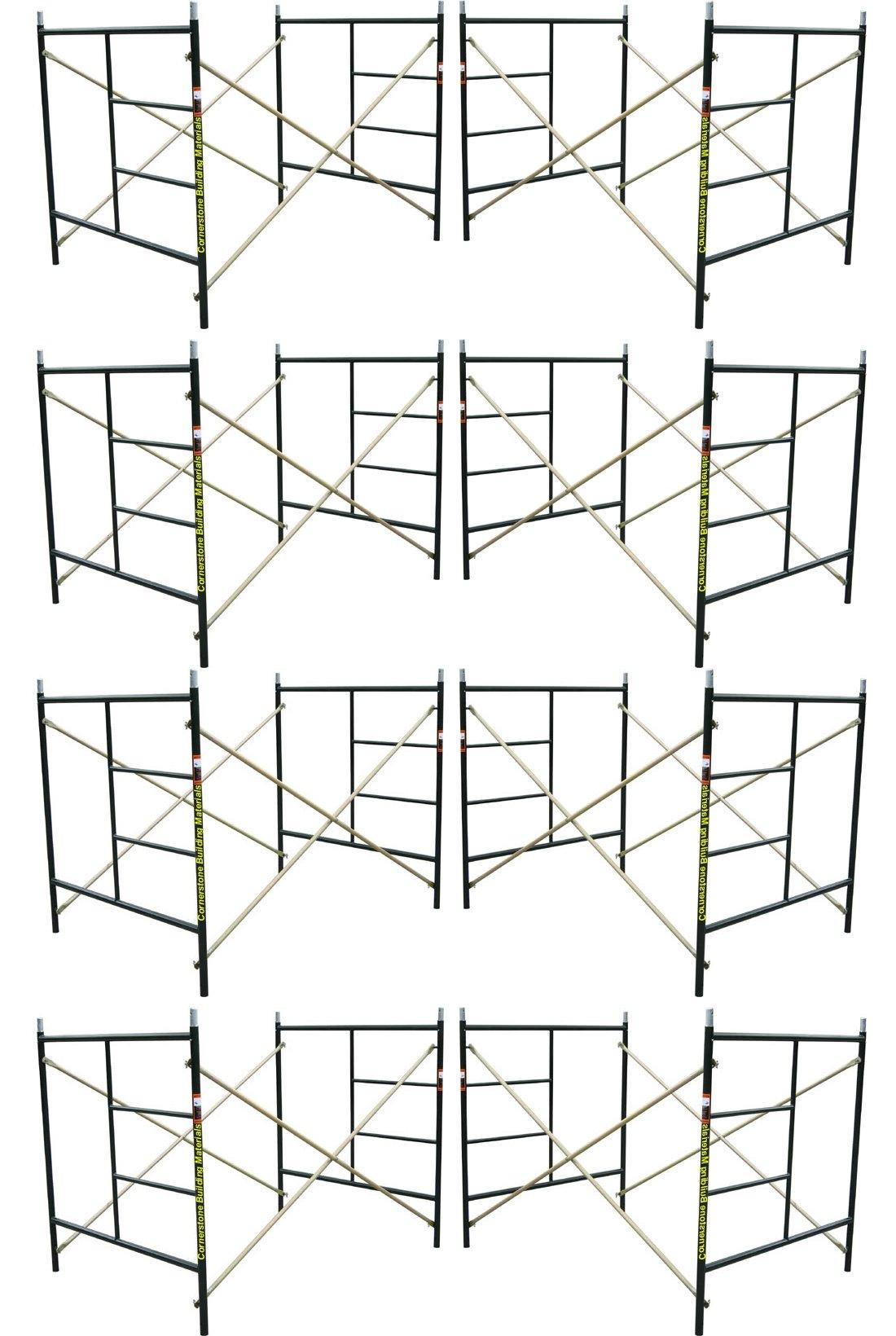 Eight Set New Flip Lock 5' X 5'1'' X 7' Masonry Scaffolding Frame Sets CBMSCAFFOLD
