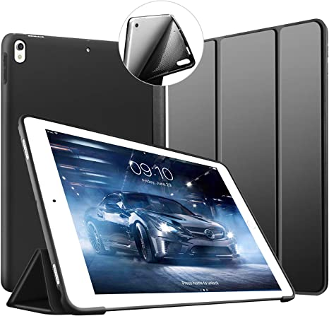 TABLET CUSTODIA COVER CASE NERA Vera Pelle Custodia Protettiva Apple iPad 2017 iPad 5