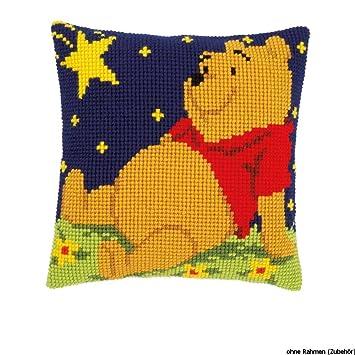 Amazon.com: De Disney Winnie the Pooh cojín de punto de cruz ...