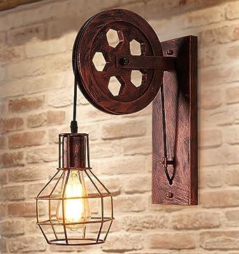Rétro Luminaire Applique Murale Style Industriel Réglable Finition De  Laiton Éclairage Vintage Edison Lampe Douille E27
