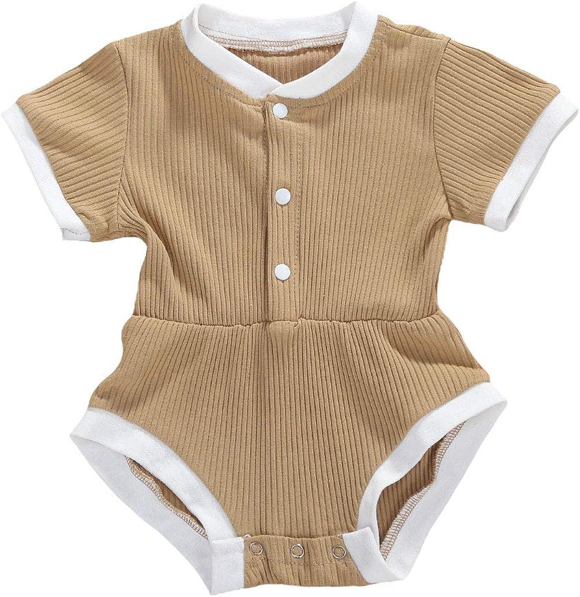 Longfei Newborn Baby Girl Summer Bodysuit Romper Jumpsuit One-Piece Outfits