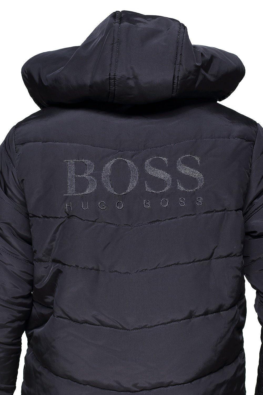 d691451ad5b BOSS Hugo Blouson garçon J26324 009 Black - Couleur Noir - Taille 12 Ans   Amazon.fr  Vêtements et accessoires