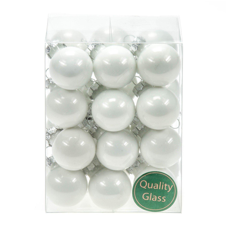 24palle di Natale in vetro PZ PALLINE Bianco Opal colori decorazione sfere palline di vetro decorazione Chirst decorazioni natalizie Matt lucido decorazione sfere Othmar Trading