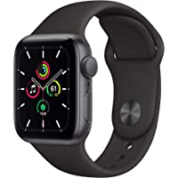 Apple Watch SE (GPS, 40 mm) Caja de aluminio en gris espacial - Correa deportiva negra