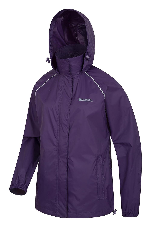Mountain Warehouse Pakka Womens Rain Proof Waterproof Jacket Purple at Amazon Womens Coats Shop