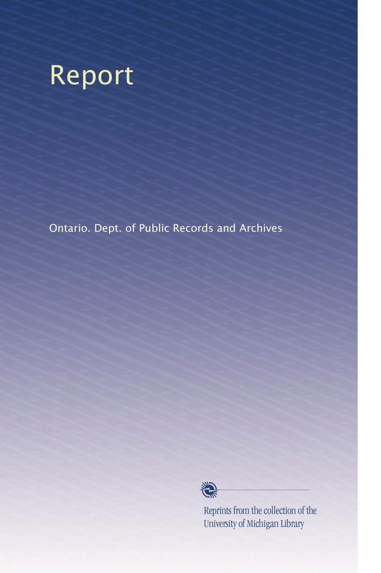 Download Report (Volume 8) pdf epub