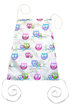 Vizaro 100/% Luxury Cotton Cover for Nursing Pillow Made in EU Little Owls C OekoTex Safe for Babies