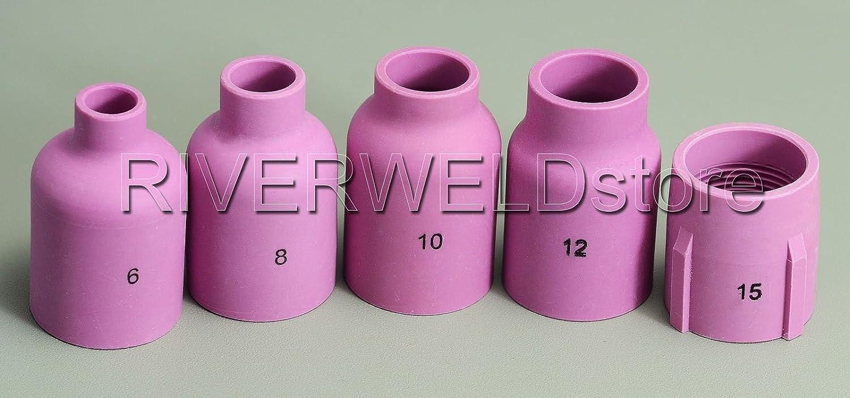 TIG PTA DB SR WP 17 18 26 Grande Diametro Ceramica Ugelli gas Lens Collet corpo 14pezzi